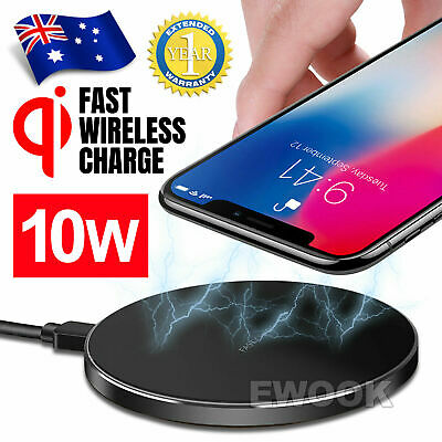 Qi Wireless Charger FAST Charging Pad Receiver For iPhone 11 XR 8 Samsung S9 S8