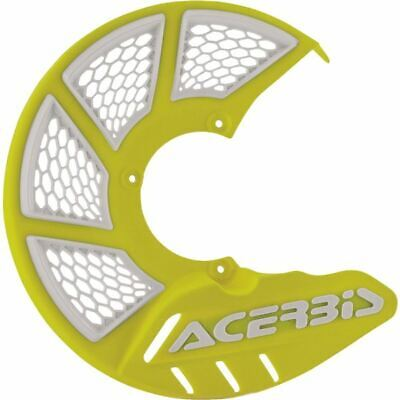 Yellow/White Acerbis X-Brake 2.0 Vented Front Disc Cover