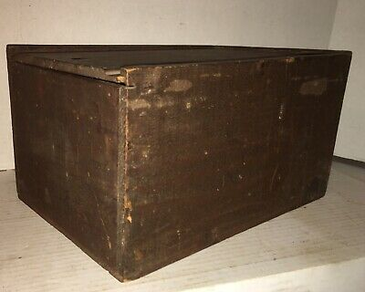 ANTIQUE SLIDE LID CANDLE DOCUMENT BOX OLD PAINT Dry Finish AAFA