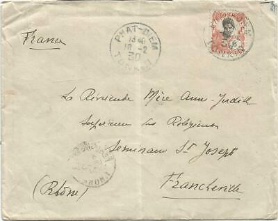 Indochine 6C Solo Lettre Cover Phat Diem 10.2.1930 Tonkin To France