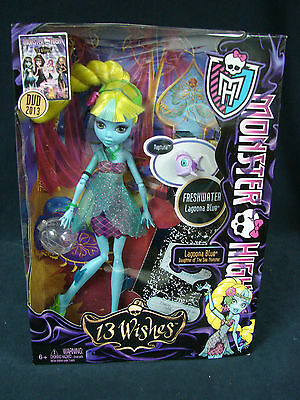 Monster High 13 Wishes Lagoona Blue  Daughter of the Sea Monster Mattel  2012