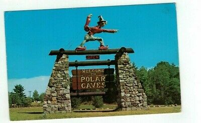 "NH Plymouth New Hampshire vintage 1975 post card ""Welcome to Polar Caves"""