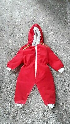 Vintage Harringtons Baby Clothes Snow Suit Romper Teepee Pattern Age 12m 1970s?