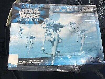 Ertl Star Wars Episode 1 Stap with Battle Droid Model Kit 30124 New Boxed Kit