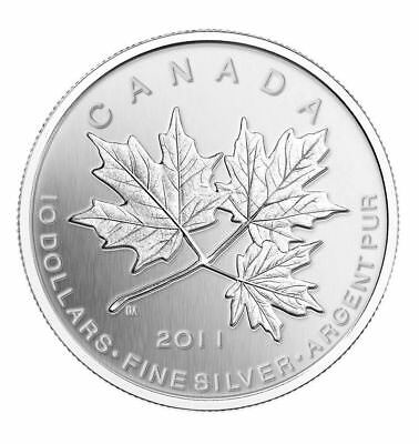 2011 Canada $10 Fine Silver Maple Leaf Forever