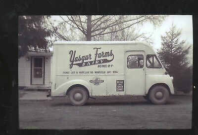 Real Photo Bethel New York Yasgur Farms Dairy Delivery Truck Postcard Copy