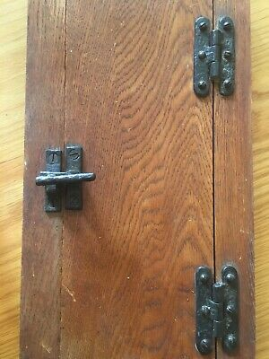 Vintage Iron Cupboard Hinges And Catches, Set Of 2