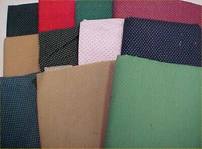 Mix Lot Vintage Cotton Quilt Fabric Tiny Pin Dot Quilters Material Sew Estate