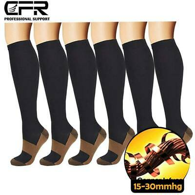 Copper Compression Socks 15-20mmHg Best For Men Women Running Athletic Medical