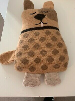 Aroma Home Knitted Snuggle Hotties Dog Hot Bottle Microwave Wheat Bag Heat Pack