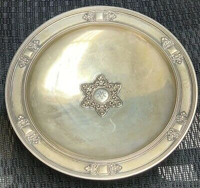"""TIFFANY & CO. STERLING SILVER FOOTED CAKE PLATE 9"""" NO MONO 691 Grams"""