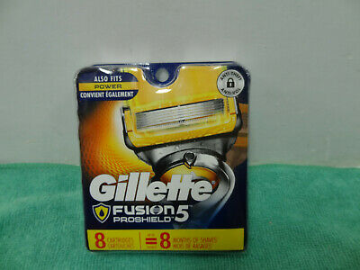NEW GILLETTE FUSION PROSHILED 5 REFILL RAZOR BLADES 8 Cartridges