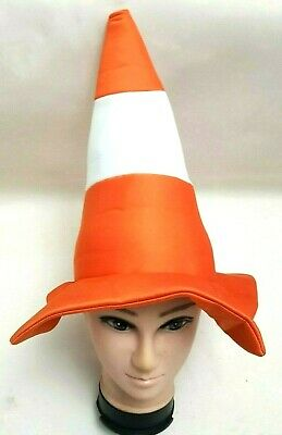 24X NOVELTY SOFT ORANGE TRAFFIC CONE HAT FANCY DRESS HEN PARTY STAG DO PARTY HAT
