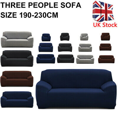1-3 Seater Sofa Covers Throw Slipcover Chair Covers Elastic Couch Protector UK