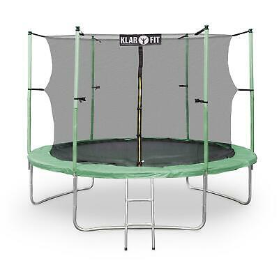 Trampoline Enfant Jeu De Plein Air Diametre 400Cm Filet De Securite 150Kg Vert