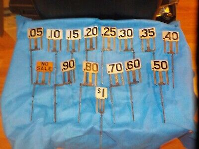 15 Antique National Cash Register Flags From a Model 711 NCR