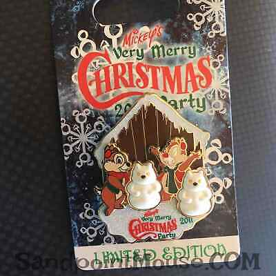 Disney LE Mickey's Very Merry Christmas Party Chip 'n Dale 2011 Pin (NJ:87340)