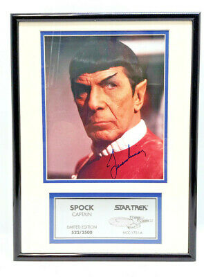 Leonard Nimoy/Captain Spock from Star Trek Movies Autographed Photo Plaque-QVC
