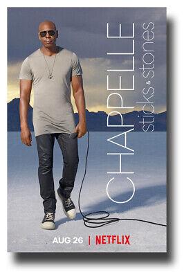 """11/""""x17/"""" Sticks Stones Netflix TV SameDay Ship from USA Dave Chappelle Poster"""
