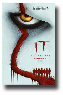 """It Chapter 2 Movie Poster 11""""x17"""" Pennywise TWO II Dolby SameDay Ship from USA"""