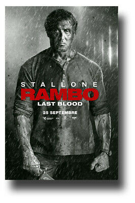 """Rambo 5 Movie Poster 11""""x17"""" Last Blood Gray Knive Five  SameDay Ship from USA"""
