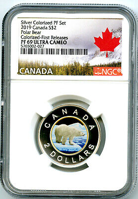 2019 $2 Canada Silver Proof Toonie Ngc Pf69 Gilt Colored Two Dollar Fr ! Rare
