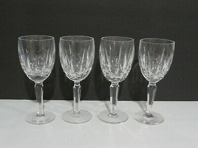 Waterford Crystal Kildare 4 Claret Wine Goblets 6 1/2""