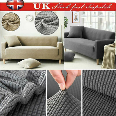 1/2/3 Seats Elastic Sofa Settee Cover Sectional/Corner Couch Covers Home Decor
