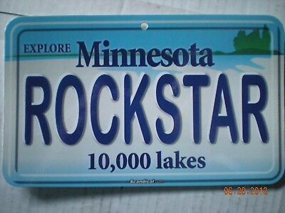 "MINNESOTA Personalized Name Plaques ""ROCKSTAR"""