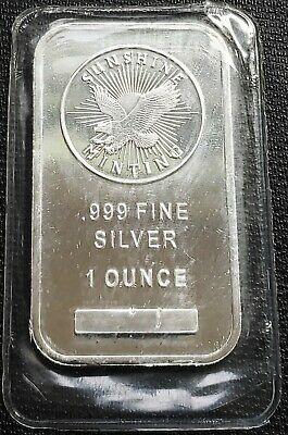 Sunshine Minting 1 Troy Oz Pure Silver Bar - Sealed