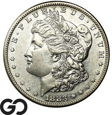 1883-S Morgan Silver Dollar Silver Coin , Very Choice AU++ Better Date