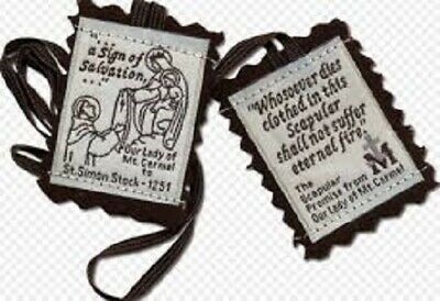 The Brown Scapular of Our Lady 100% Pure Brown Wool