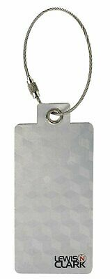 2 Lewis N. Clark Aluminum Luggage Tags Silver Travel Bag Suitcase Identification