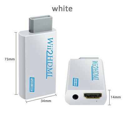 New Wii HDMI Adapter 1080p Wii to HDMI Converter 3.5mm Audio HD Video Output