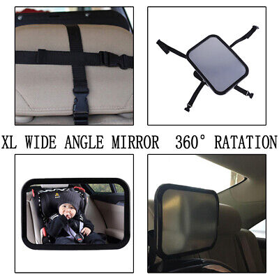 Baby Safety Car Seat Rear View Mirror Facing Back Infant Kids Child Toddler W FG