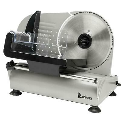 "150W 7.5"" Ham Slicing Machine Deli Slicer Electric Meat Food Bread Home 0-15mm"