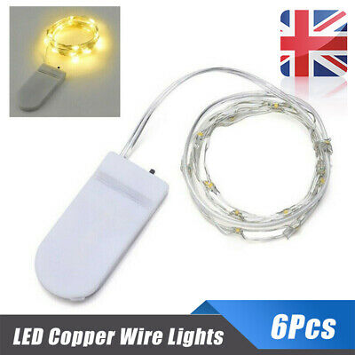 LED Pack Micro Wire 6 Lights Copper Rice 20 Battery 2M Fairy Party String Hot