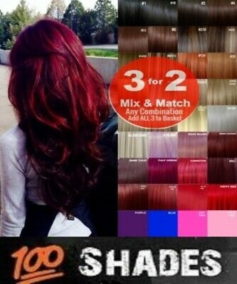 Hair Extensions Clip-in Hair real Human Feel Red Pink Blue White Golden Burgundy