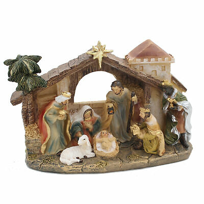 Christmas Nativity 7 Fixed Figure and Stable Scene - 89618