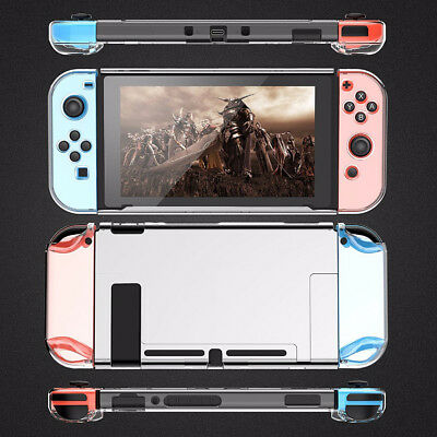 For Nintendo Switch Chic Clear Shockproof Protective Hard Transparent Case Cover