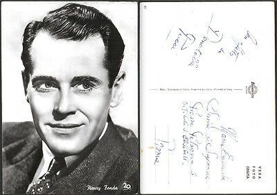 CARTOLINA FOTOGRAFICA CINEMA MOVIE - HENRY FONDA - 20th CENTURY FOX - BROMOFOTO