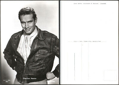 Cartolina Fotografica Cinema Movie - Charlton Heston - Paramount Films