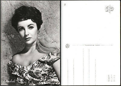 Cartolina Fotografica Cinema Movie - Elisabeth Taylor - Metro Goldwyn Mayer
