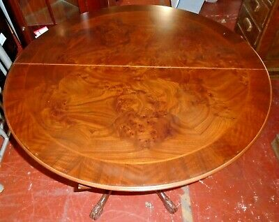 Vintage Chippendale Style Stained Yew Veneer Folding Card / Games Table - CS W67