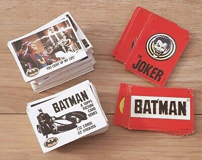 Complete Batman 1989 Lot of 132 Trading Cards & 22 Stickers Topps