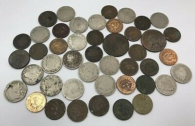 Lot Of 45 Us Culls Coins Collection - Mixed Variety - Early Us Coins!