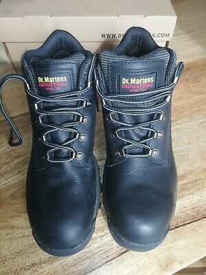 Mens Dr Martens Air Wair Steel Toe Boots Size Uk 8 Shoes Boxed Worn Once