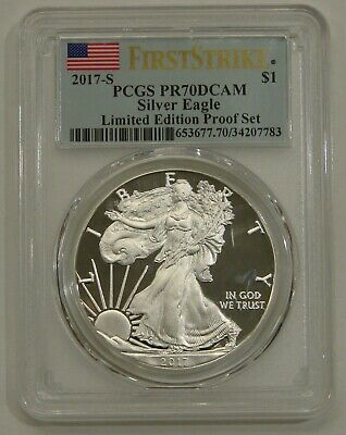 2017-S Proof Silver American Eagle - PCGS PR 70 DCAM - Limited Edition Proof Set