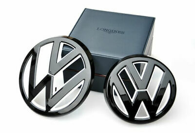 VW Gloss black+white front grill rear boot badge emblem GOLF MK7 MKVII GTI R TDI
