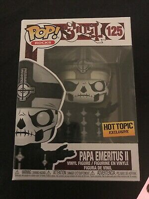 Funko Pop! Papa Emeritus Ii #125~ Hot Topic Exclusive~ Mint~ Rocks Series~ Ghost